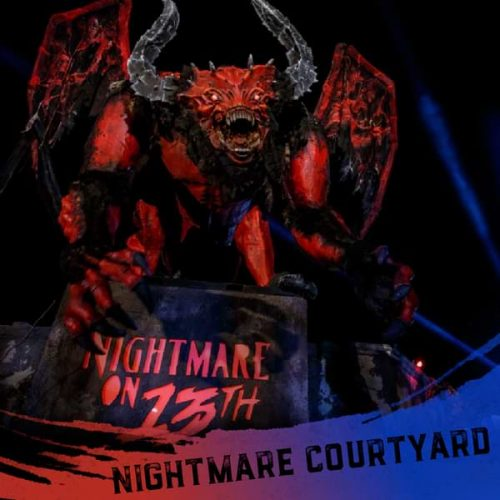 Nightmare on 13th courtyard in front of the building
